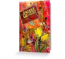 Sweet Dreams and Tulips Greeting Card