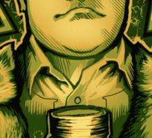 The Green Bastard - Sticker Sticker
