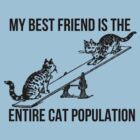 My BF is the entire Cat Population v2 by jwalkingdesigns