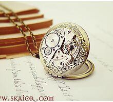 Gothic Steampunk Locket Necklace by SKAIOR Designs