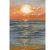Sunset over Sauble Beach Photographic Print
