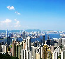 Hong Kong at peak by kawing921