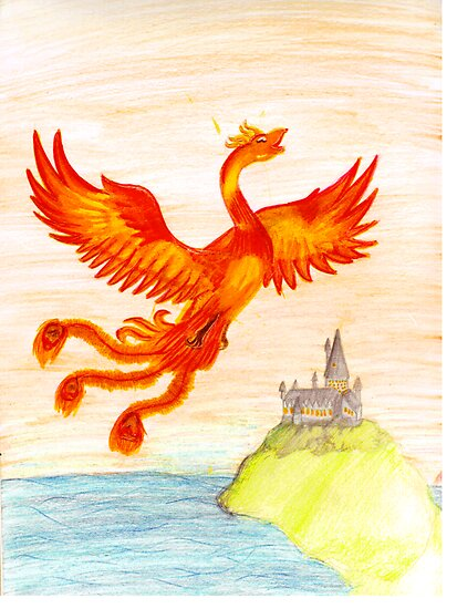 Fawkes The Phoenix by LittleMizMagic