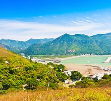 Tai O landscape from mountains in Hong Kong by kawing921