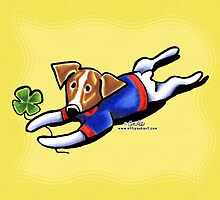 Jack Russell Lucky Dog by offleashart