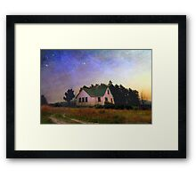 old house at twilight Framed Print