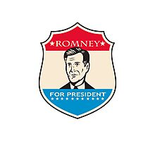 Mitt Romney For American President Shield Photographic Print