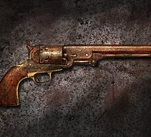Gun - Colt Model 1851 - 36 Caliber Revolver by Mike  Savad