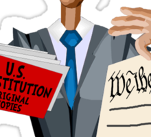 Obama Shredding the Constitution Sticker