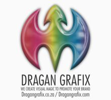 DRAGAN GRAFIX White And Grey T-Shirt Design by Christopher McCabe
