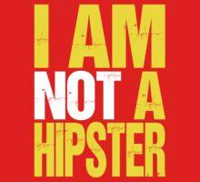 I Am Not A Hipster (yellow) T-Shirt