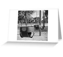 Swing Baskets Greeting Card