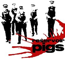 Reservoir Pigs (Poster) by Mother Shipton
