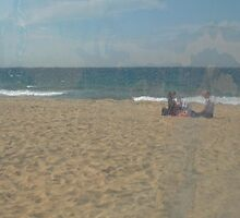 Beach scene through plastic by Antoine de Paauw