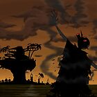 Welcome to the world of the plastic beach by Vixeycake