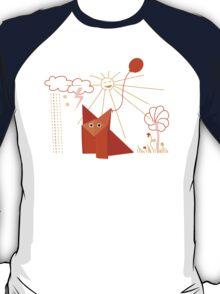Cute Origami Fox Is Happy T-Shirt