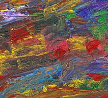 Abstract - Acrylic - Anger Joy Stability by Mike  Savad