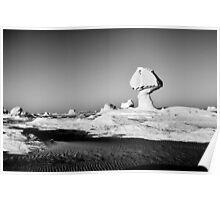 White Sand Desert Poster