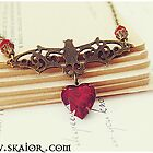 Gothic Bat Necklace by SKAIOR Designs