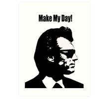 Clint Eastwood Dirty Harry Make My Day Art Print