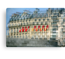 Parisian Mosaic - Piece 29 - French Building Facade  Canvas Print