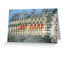 Parisian Mosaic - Piece 29 - French Building Facade  Greeting Card