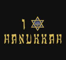 "Hanukkah ""I Love Hanukkah"" T-Shirt by HolidayT-Shirts"