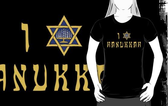 """Hanukkah """"I Love Hanukkah"""" T-Shirt by HolidayT-Shirts"""