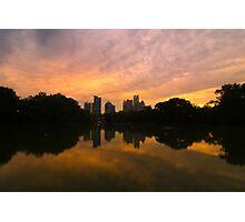 Sunset at Piedmont Park Photographic Print