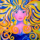 ORIGINAL PAINTING - Unveiling of the Goddess - Visionary Pagan & Spirit Art by jonkania