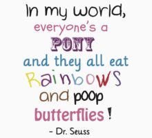 Pooping Butterflies! Dr Seuss by miwat