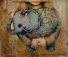 Paisley Elephant by © Karin  Taylor