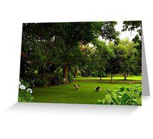 """Enjoying the Garden................"" Greeting Card"