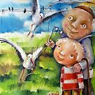Walk With Grandpa by Monica Blatton