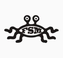 FSM - Flying Spaghetti Monster - T-Shirt (A) by neizan