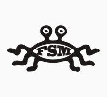 FSM - Flying Spaghetti Monster - T-Shirt (A) by neizan