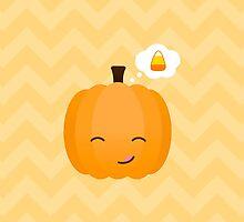 Cute Kawaii Jack o'Lantern and Candy Corn  by runninragged
