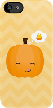 Cute Kawaii Jack o'Lantern and Candy Corn  by runninragged