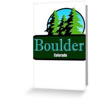 Boulder Colorado t shirt truck stop novelty Greeting Card