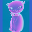 Glow Kitty - iPhone case by HanieBCreations