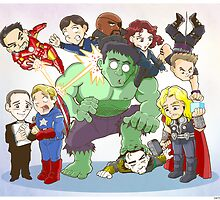 Avengers Family Portrait  by pagebranson