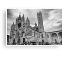 Duomo di Siena in black and white Metal Print