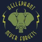 Hellephant - Maulive Green on Dark Blue by Koobooki