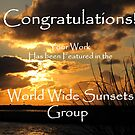 Sunset Banner by Gloria Abbey