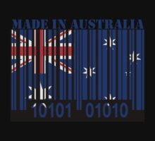Australia Barcode Flag Made In... by Netsrotj