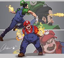 Mario and Luigi by Kudos No Tierra Studio