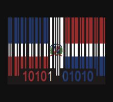 Dominican Republic Barcode Flag by Netsrotj