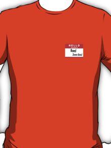 Hello My Name is Bond, James Bond Name Tag T-Shirt