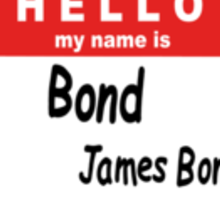 Hello My Name is Bond, James Bond Name Tag Sticker