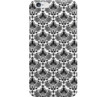 Black & White Vintage Floral Pattern iPhone Case/Skin